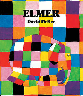 1 of 1 - ELMER: THE STORY OF A PATCHWORK ELEPHANT by David McKee (Hardback 1989) LIKE NEW