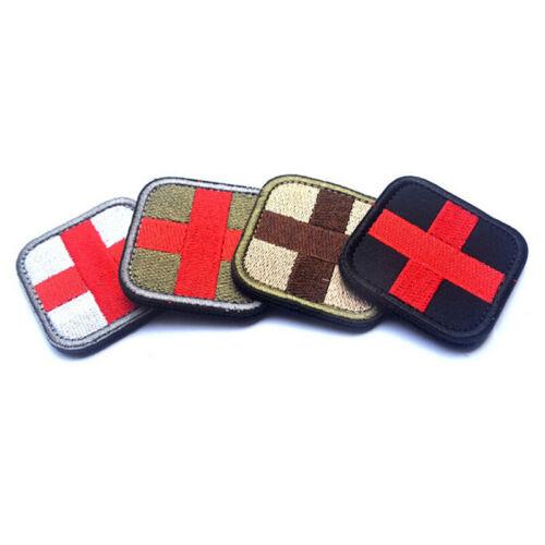 Paño de primeros auxilios de supervivencia Cruz gancho bucle sujetador insignia