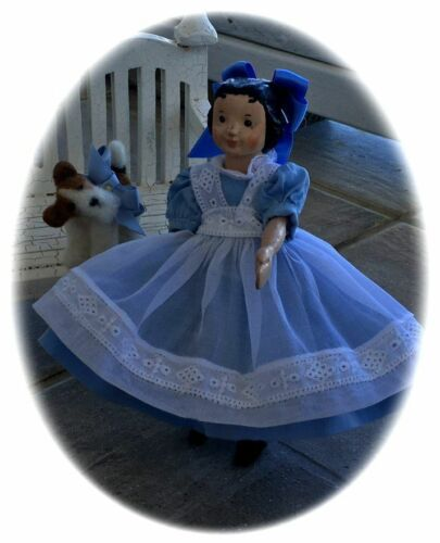 """HITTY  ALICE 1800/'S PINAFORE /& DRESS PATTERN FOR 6 1//4/"""" DOLL"""