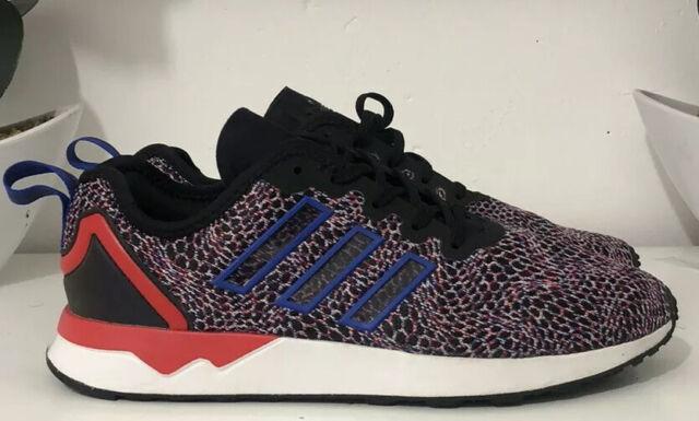 Adidas Originals ZX Flux Adv trainers Black Blue Red multi UK 8
