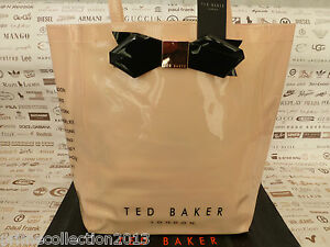 683e5639046d9 TED BAKER Ladies Handbag LARCON Icon Tote Bag LARGE Pvc Pink Bow ...