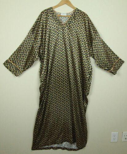FLAWS vintage Mary McFadden silky caftan robe gown