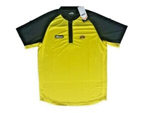 31cde02afb Details about MEN'S ELLESSE HAWK POLY POLO - VIBRANT YELLOW/PEACOAT NAVY -  SIZE MEDIUM **NEW**
