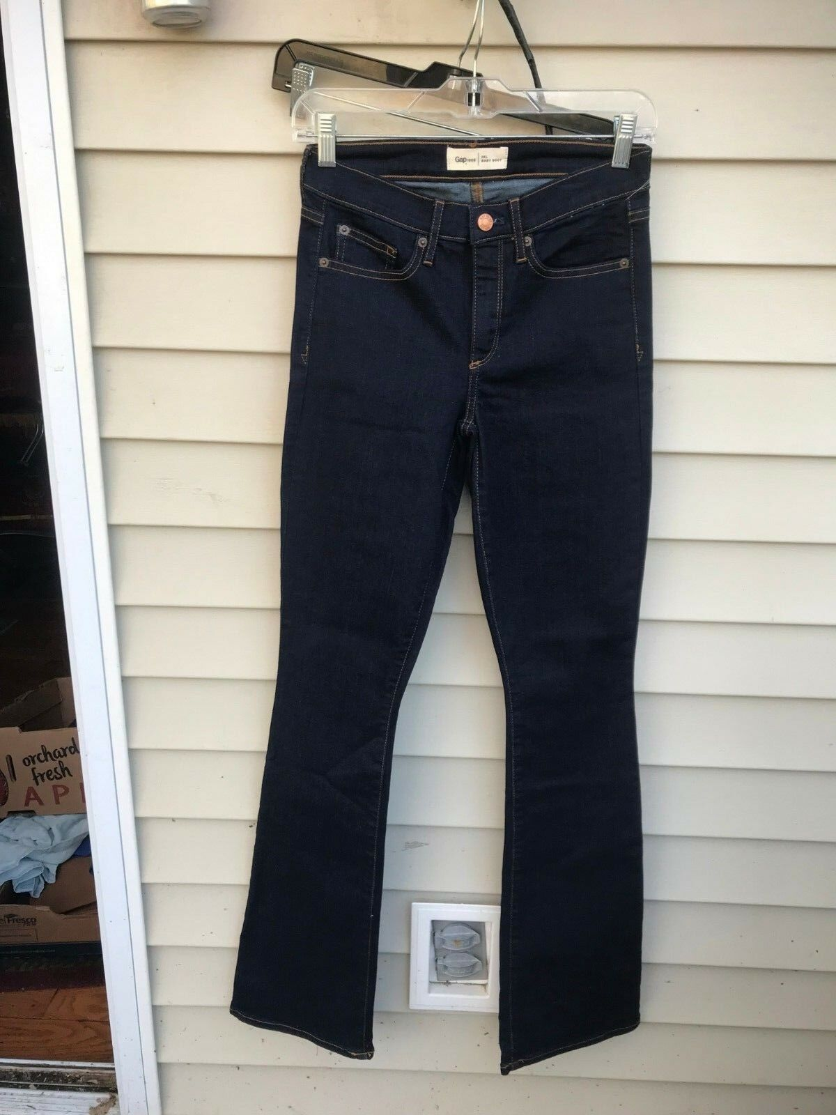 NWT Gap 1969 Baby Boot in Rinse Mid Rise Stretch Denim Jeans SIZE 26L