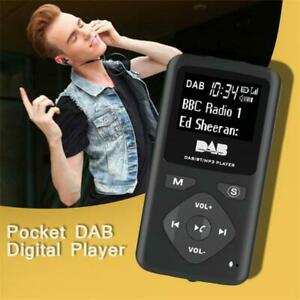 Personal Pocket DAB Radio Portable Digital Radio With Bluetooth MP3 Player Sport