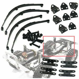 Negro-acero-hoja-resorte-de-suspension-para-RC-4wd-d90-1-10-RC-Crawler-cars-Upgrade