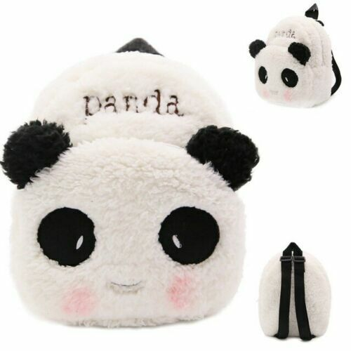 Panda Plush Toddler School Bag Mini Ultra Soft Travel Backpack