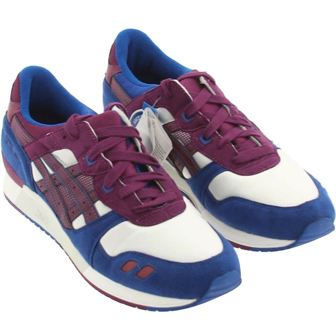 6.0 ASICS Men royal Gel-Lyte III 3 white royal Men purple ronnie fieg shadow d6f463