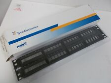 Tyco Amp NetConnect 24-Port 1U Discrete Patch Panel Assembly SL Series NEW