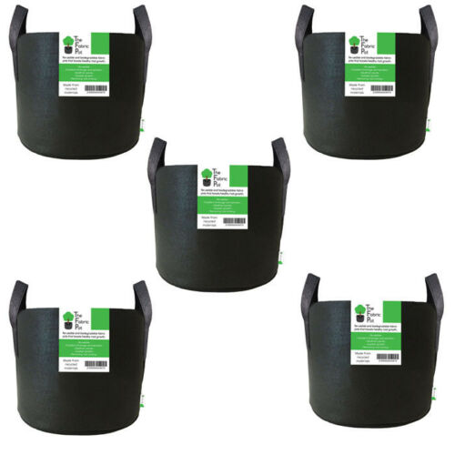 Hydroponics 50L Litre x 5 The Fabric Pot Smart Grow Growing Bag UK