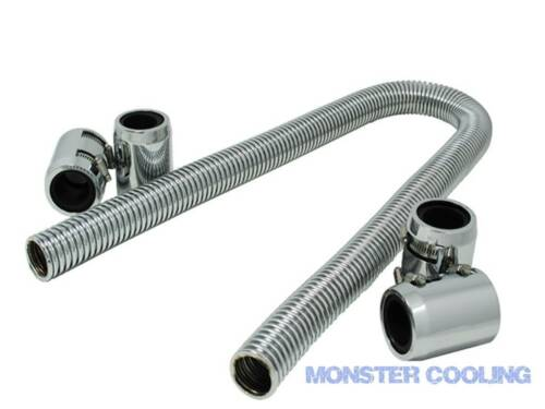 "1947 International Truck  Radiator Hose Kit 48/"" Chrome with 4 Couplings"