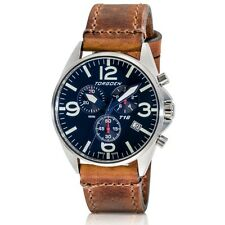 New Torgoen Swiss T16 Men's Chronograph Blue Face 41mm Case Pilot Wrist Watch