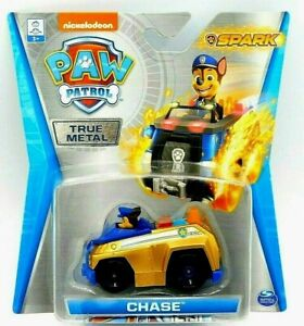 Paw Patrol Chase SUPER ULTRA RARE GOLD Spark Recycling Truck True Metal Car NEW!
