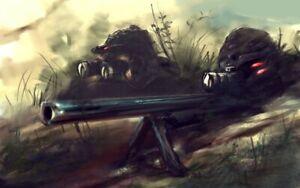 PLAQUE EN MÉTAL  soldat guerre militaire sniper  30 X 20 CM