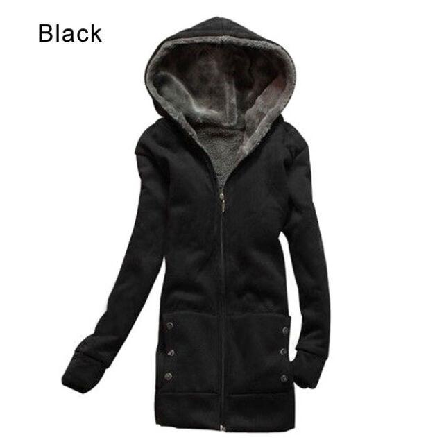 New Women's Lady Clothes Thicken Winter Warm Jacket Coat Hooded Fleece Outerwear
