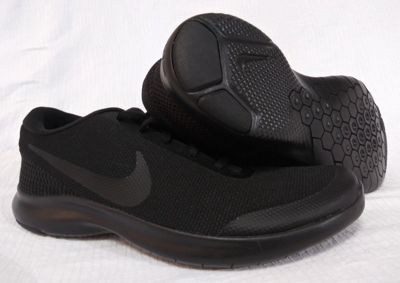 New Nike Flex Experience Run 7 Triple Black Mens Size 10E Wide AA7405 002