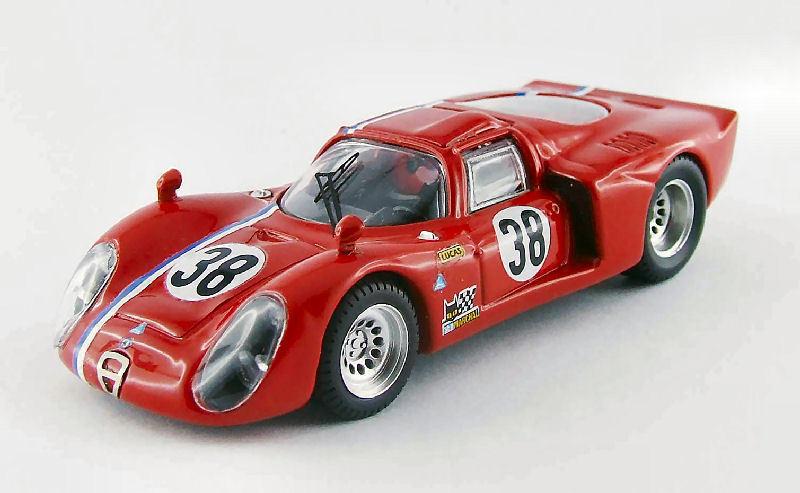 Alfa romeo 33,2   38 - test 1968 gosselin   trosch 1 43 modell Besteen modelle