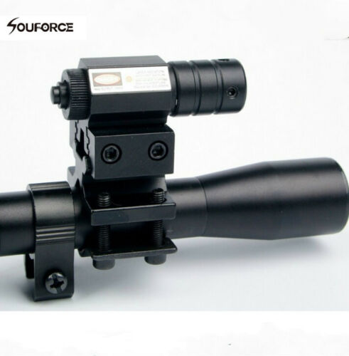 mini Red Laser Sight Universal Mount Hunting US 4x20 AirSoft Gun Rifle Scope