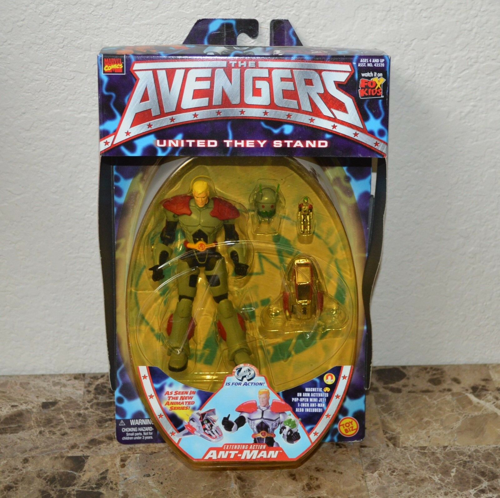 Animated Avengers Ant-Man Action Figure by Marvel Toybiz United they Stand