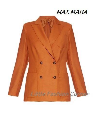 New MAX MARA orange 100% Virgin Wool Blazer size 10 USA_ 12 GB_ 40 D_44 I_42 F