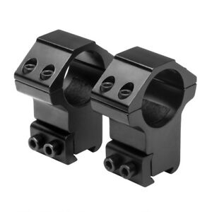 NcSTAR-1-in-Aluminum-Rifle-Scope-Mount-Rings-Pair-3-8-in-Dovetail-High-Black