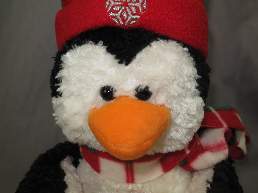 GUND 44464 PLUSH CHRISTMAS PENGUIN SNOWBALL HOLIDAY SCARF PLUSH STUFFED RARE