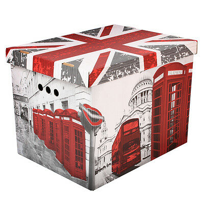 Aufbewahrungsbox Box Karton Kiste Pappe LONDON UK XL GER GPPD0001