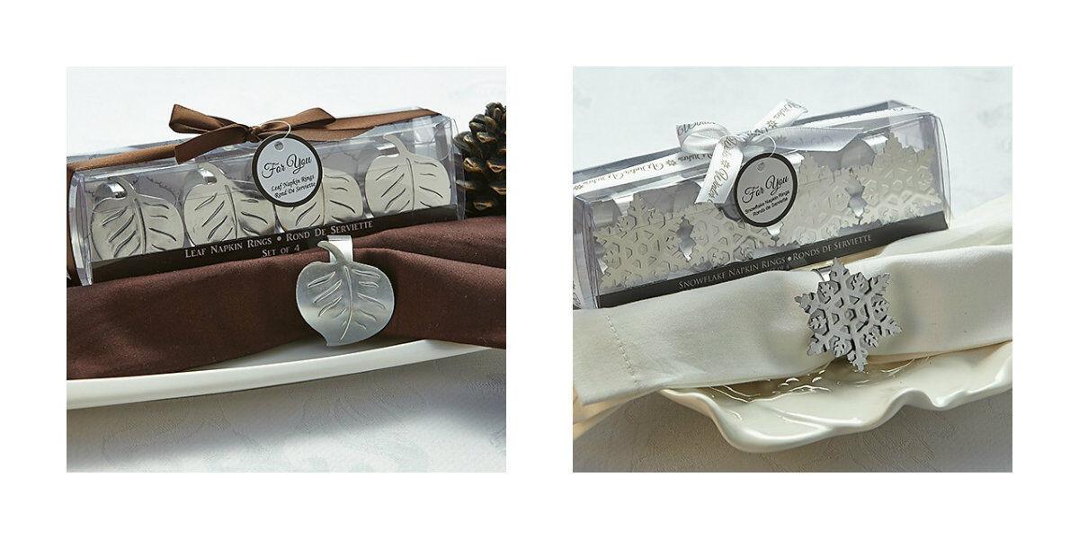 96 Leaf Or Snowflake Napkin Rings Rings Rings Wedding Favors Table Decorations 58c728