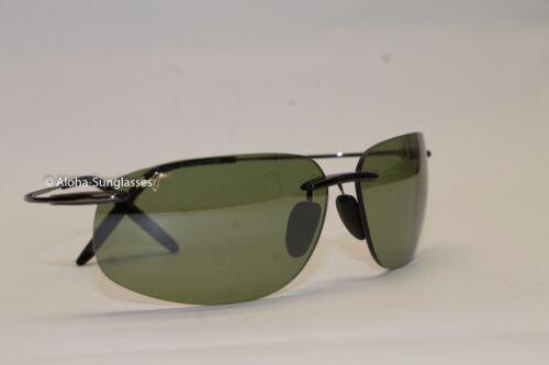 NEW Maui Jim Rimless MALA Flex memory Black frame w Green HT Lens MSRP $329