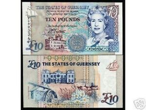 ND P-57 UNC 10 Pounds Guernsey 1995