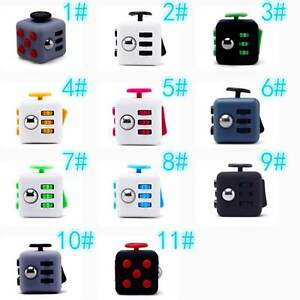 Magic-Fidget-Cube-Anxiety-Stress-Relief-Focus-6-side-Black-Calm-Toy-Gift-Random