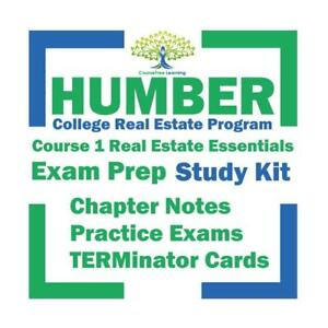 Humber Real Estate Essentials Course 1 2020 Study Notes, Practice Exam Questions Exam Prep Kit Ontario Preview