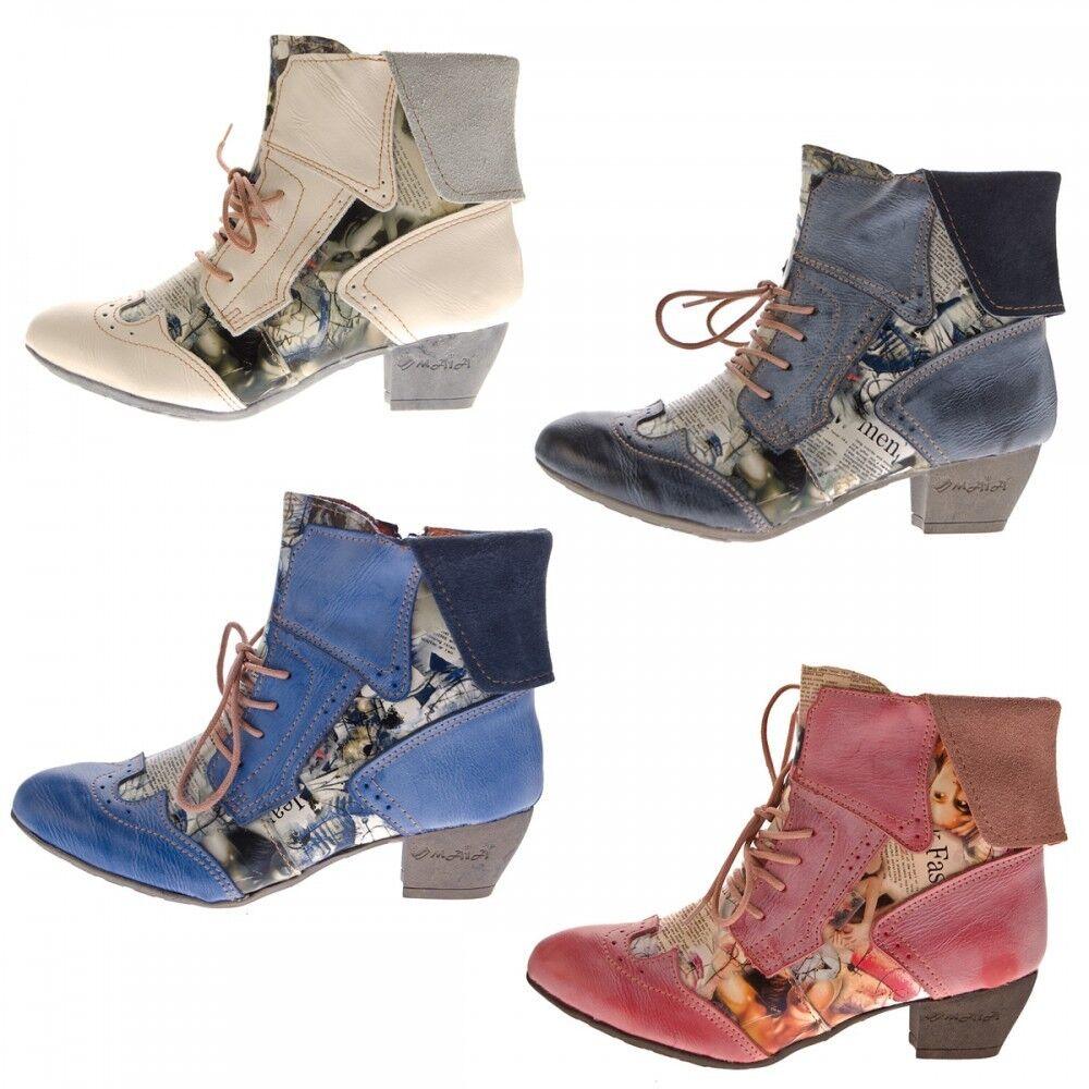 TMA Damen Stiefeletten Echtleder Comfort Stiefel TMA 6188 Leder Schuhe Gr. 36 - 42