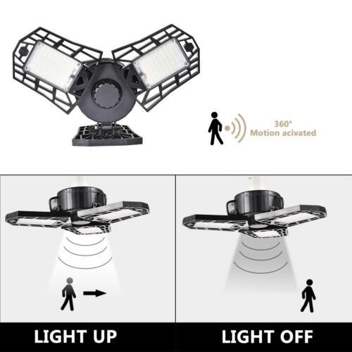 60W LED Tri-Fold Deformable Lamp Adjustable Three Light Garage High Bay Lights