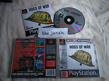 Hogs of War PS1 (COMPLETE) VERY RARE Sony Playstation black label
