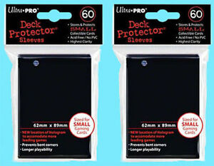 120-ULTRA-PRO-SMALL-BLACK-DECK-PROTECTORS-SLEEVES-Yugioh-Vanguard