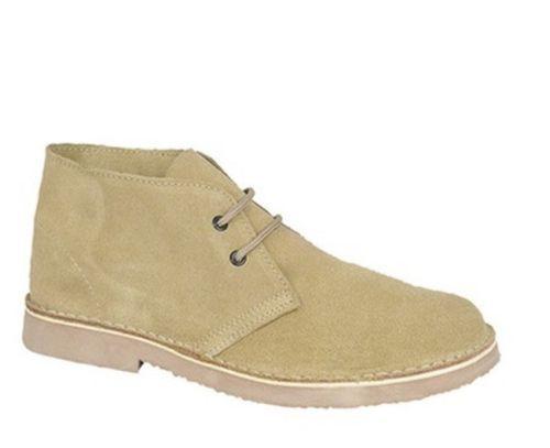 Roamers Unisex Camel Leather Desert Stiefel Mens damen Kids