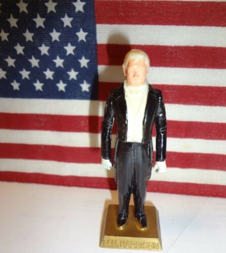 "HARRISON Vintage 1960s Marx Presidents 2.5/"" Figure PRESIDENT WILLIAM H"