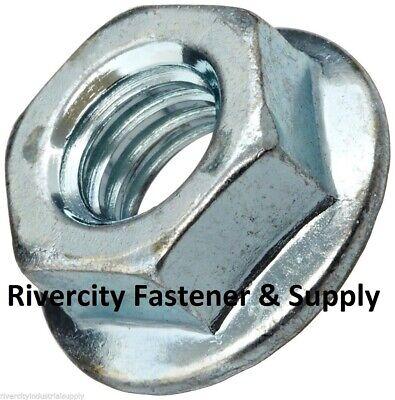M10x1.25 Serrated Flare Spin Lock Nuts Metric 14mm Hex 10mm Fine Thread 10