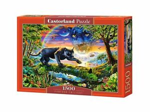"Castorland Puzzle 1500 Pieces - Panther Twilight - 27""x18.5"" Sealed box C-151356"