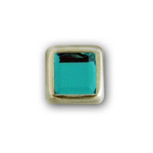 "11061-I16 3//8/"" Aqua Plastic 2 Prong Rhinestones with Square Nickel Setting"