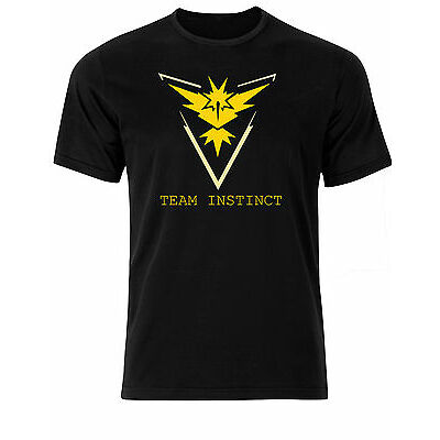 Pokemon Go Team Instinct Gym Battle Mens Tee Shirt Top AI03