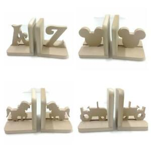 Image Is Loading Nursery Boys S Childrens Kids Wooden Bookends Book