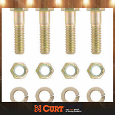 CURT 48333 Pintle Hitch Mount Hardware Kit 4 Bolts, Yellow Zinc