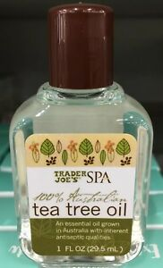 new trader joe s spa 100 australian tea tree oil 1 0 fl oz 29 5 ml ebay. Black Bedroom Furniture Sets. Home Design Ideas