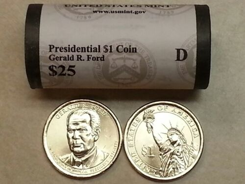 **HEAD//TAILS**  2016 D MINT GERALD R FORD PRESIDENTIAL $25 DOLLAR ROLL  ~L@@K~