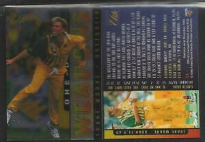 FUTERA 1996 CRICKET ELITE SHANE WARNE ONE-DAY WEAPONS CARD No 13