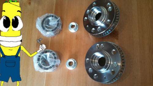 VW Jetta 2.8L Front Wheel Hub And Bearing Kit Assembly 1994-1998 PAIR TWO