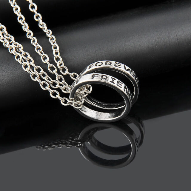 Bff Round Rings Best Friend Forever Set Pendants 2 Necklace