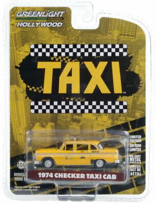 GREENLIGHT 44890 C TAXI 1974 CHECKER TAXI SUNSHINE CAB COMPANY #804 1//64 YELLOW